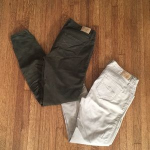 3 pairs of Abercrombie Khaki Jeggings